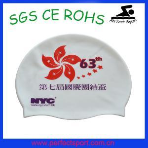 China Summer popular soft healthy silicone swim cap.silicone swim cap on sale