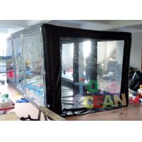 China Indoor / Outdoor PVC Inlflatable Sealed Car Capsule Covers Garage With Customized wholesale
