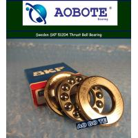 Quality High Speed Ball Thrust Bearing With Single Row Swden SKF 51204 for sale