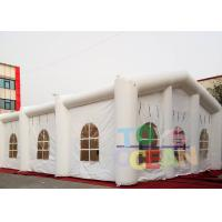 China 20x10x6m Inflatable Tents , White Decorative Inflatable Marquee Tent For Event wholesale