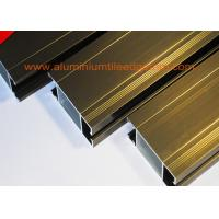 China Anti Corrosion Aluminium Door Profiles Extrusions Electrophoresis Champagne Color wholesale