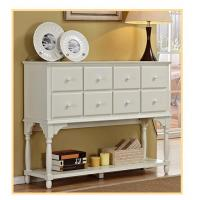 China Hallway / Living Room White Console Table With Storage eight Drawer wholesale