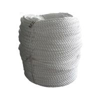 China 3 Strand White Polyester Mooring Rope For Narrowboats ,  220 Meters Cordage Rope wholesale