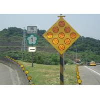 China Yellow Solar Powered Traffic Signals , LED Solar Powered Warning Lights wholesale