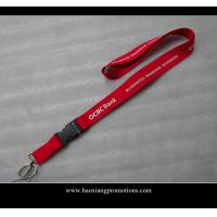 China red color 25*900mm eco-friendly polyster lanyard with claw no MOQ wholesale