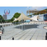 Flat Stressed Shape Tensioned Membrane Structures Simple Performance Pavilion