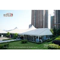 China 500 People Outdoor High Peak Tents With Hard Glass Wall for Auto Show wholesale