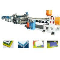 Buy cheap PP PE PC Hollow Gride Plastic Board Extrusion Line , Hollow Board Plastic Machinery from wholesalers