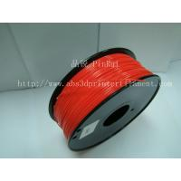 China Multi color 3mm ABS 3d Printer Filament Red with Good Elasticity 230°C -270°C wholesale