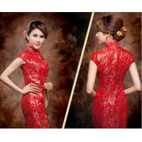 China High end Embroidery traditional chinese wedding dress with High Neck wholesale