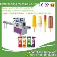 Buy cheap Automatic popsicle packaging machine with feeder , ice lolly wrapping machine from wholesalers