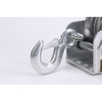 China Auto Locking Heavy Duty Hand Winch, Boat Trailer Winch with 26FT Steel Wire Rope Manual Trailer Spreader wholesale