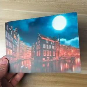 China OK3D printing factory supply Good Quality Custom Offset Printing Plastic PET Lenticular 3D lenticular card wholesale