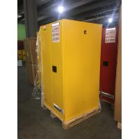China Yellow Industrial Safety Cabinets , Flame Proof Storage Cabinets With Double Lock 60 galloncapacity wholesale
