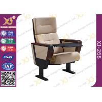 China Soild Molded Bent Plywood Back Church Auditorium Chairs With ABS Tablet wholesale