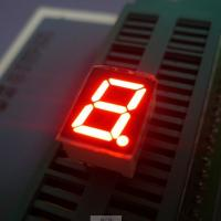 "China High brightness ultra red 0.39"" Single Digit 7 Segment Led Display common cathode for instrument panel wholesale"