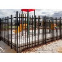 China Safely Metal Modern Zinc Steel Fence Tubular Picket Fence For Downtown wholesale