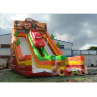 China Cars Racing Theme Giant Inflatable Water Slide Rentals Obstacle Outdoor Playground For Kids wholesale