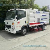 China HOWO 7CBM High Pressure Brush Sweeper Road Cleaner Vehicle With Water Saving System wholesale