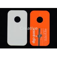 China Fashional Jewelry Silk Screen Plastic Luggage Tags With 350GSM Paper wholesale