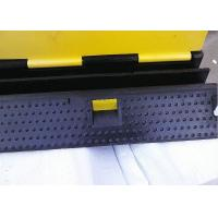 China Police Control Removable Speed Bumps Black Base 27° Incline Angle wholesale