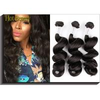 """Wholesale Black Remy Peruvian Virgin Human Hair Extensions 18"""" 22"""" Loose Wavy Natural Wave from china suppliers"""