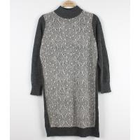 China Wool Long Ladies Sweater Dresses With Lace Front Classic Clothes wholesale