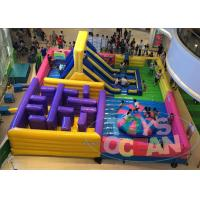 China 4 In 1 Multiply Inflatable Playground With Slide Maze Obstacle Game For Game wholesale