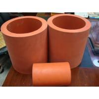 China High Temperature 300C Hot Stamping Red Silicone Rubber Roller 300 mm Length wholesale