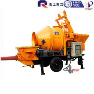 China Pully JBT40-P1 electric concrete pump with drum mixer, portable small motor concrete pump, mixer trailer wholesale