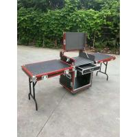 China Red Aluminum Egde 12U Standard Road Rack Flight Case 35 * 35MM With 2 Stand And Mixter wholesale