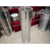China 40 Slot Stainless Steel Water Well Screen Solid Structure OEM / ODM Available wholesale
