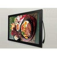 China A2  Flat Snap Frame Led Light Box Black Color Backlit For Restaurant Menu Display wholesale