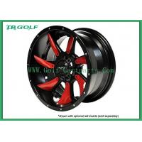 Buy cheap Red Golf Cart Rims MJFX Directional Red Inserts For 12x7 Blackhawk Wheel from wholesalers