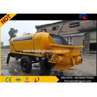 China Mobile Diesel Concrete Pump Machine 90M3 Discharge 1400mm Filling Height wholesale