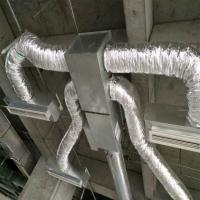 China 16kg Fiberglass wool insulated flexible air duct 10 meter thermal insulated ducting for ventilation wholesale