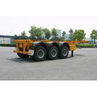 China ISO Skeletal or Flatbed type Tank Container Trailer Chassis 40ft / Semi-Trailer wholesale