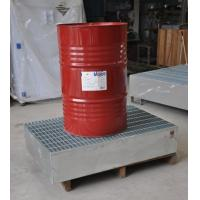 China Steel Spill Containment Pallets , Oil Drum Spill Pallet For IBC Drum wholesale
