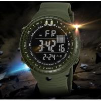 Buy cheap Synoke Fashion Waterproof 50m Pu Strap Men Outdoor Chronograph Sport Wrist Watches 9648 from wholesalers