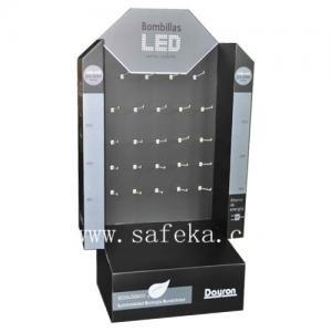 China Pop display stand design cardboard display for LED lights wholesale