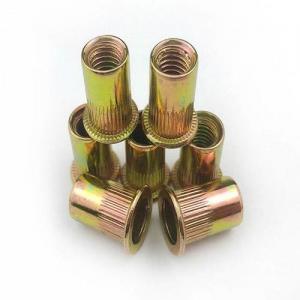 China Yellow Zinc Plated Steel Twist-Resistant Rivet Nuts Blind Rivet Nuts wholesale