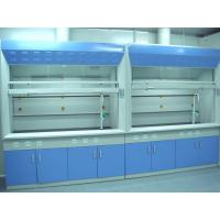 China Wall Mounted Chemical  Fume Hood Cupboard 8mm Thick White PP Board For Reasercher Use wholesale
