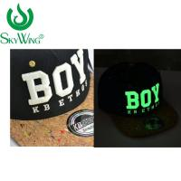 China Adults Safety Flat Brim Golf Hats Ping 3D Glow In The Dark Embroidery wholesale