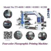 China PE Material Four Color Flexo Printing Machine High Printing Speed 50m/Min wholesale