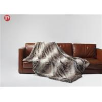 Buy cheap Soft classic Gray Faux Fur Blanket Chinchilla Stripes Throw Winter OEM/ODM from wholesalers