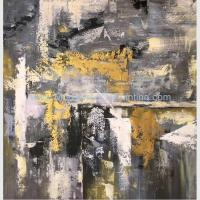 China Hand-Painted Abstract Acrylic Painting painted by Palette Knife on Linen Canvas on sale