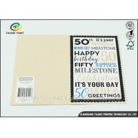 Quality Kraft Paper Personalised Christmas Cards Pantone Color Environmental Protection for sale