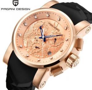 China PAGANI DESIGN Men Genuine Leather Strap Outdoor Leisure Sport Wrist Watches Fashion Quartz Watches PD-1621 wholesale