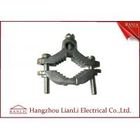 China Zinc Bare Wre Gound Clamps With Straps Brass Electrical Wiring Accessories wholesale