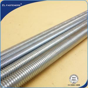 China Blackened Full Threaded Rod , High Tensile Steel Bar GB / DIN Standards wholesale